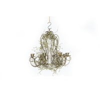 Green Crystal Chandelier (8-Candle)