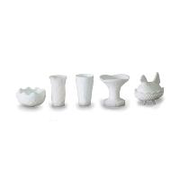 Milk Glass Vase (Medium Assorted)