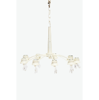 Ivory Chandelier (9-Light, Crystals)