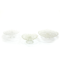Glass Cake Stands (Set of 3)
