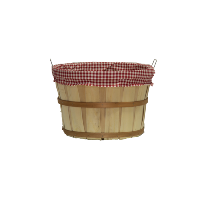 Large Bushel Basket with Fabric Liner