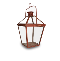 Rustic Red Lantern (Large)