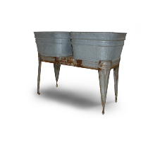 Galvanized Metal Double Wash Basin