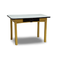Yellow Enamel Top Table
