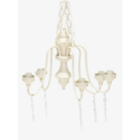 Ivory Chandelier with Crystals (5-Candle)
