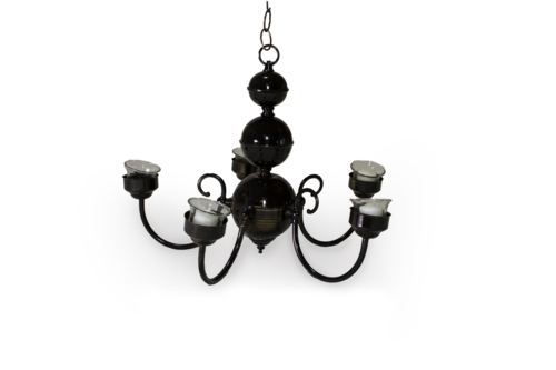 Black Chandelier (5-Candle)