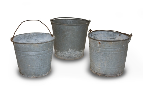 Tin Buckets (Set of 3)