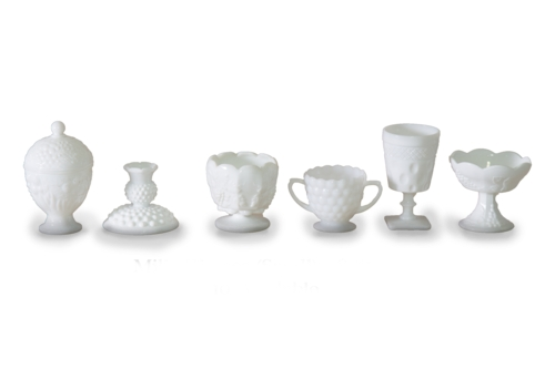 Milk Glass Vase (Small Assorted)