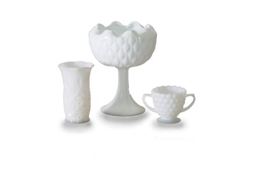 Milk Glass Vases (Set of 3)