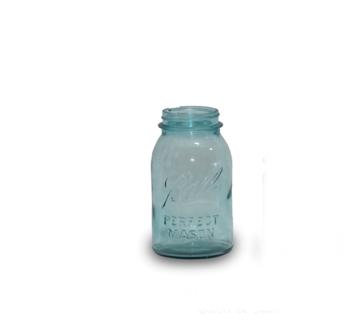 Blue Tint Mason Jar (Quart)