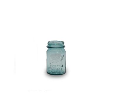 Blue Tint Mason Jar (Pint)
