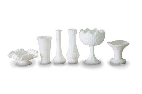 Milk Glass Vase (Large Assorted)