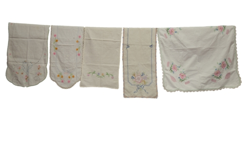 Embroidered Floursack Cloth