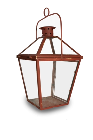 Rustic Red Lantern (Large)