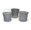 Tin Buckets (Set of 3)