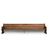 Extended Brown Church Pew