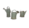 Metal Watering Cans (Set of 3)