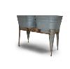 Galvanized Metal Double Wash Basin