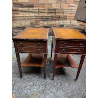 Leather Top Side Tables