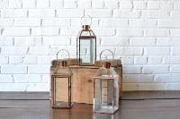 Copper & Glass Lantern - Small