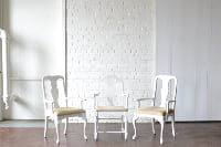White Upholstered Dining Armchairs