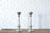 Mercury Glass Pillar Stand - 21