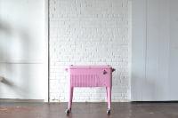 Vintage Pink Standing Cooler