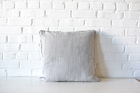 Pillow - Gray & White Brushed