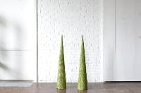 Pair of Green Glitter Trees