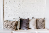 Collection of 5 Assorted Gray PIllows