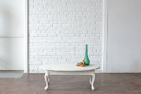Oval White Coffee Table