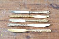 Knife - Mismatched Gold Flatware