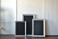 Collection of Silver Frames with Chalkboards
