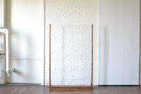 6' Freestanding Acrylic with Wood Trim