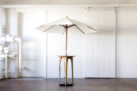 Aperture Cocktail Table with Umbrella