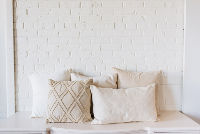 Collection of 5 Assorted Neutral Pillows