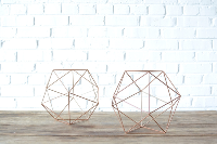 Geometric Copper Shape - Medium