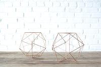 Pair of Geometric Copper Shapes - Medium