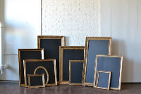 Collection of Gold Frames with Chalkboards