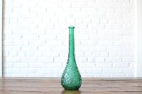 Teal Teardrop Vase