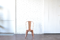Rose Gold Metal Dining Chair