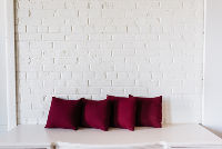 Collection of 4 Small Burgundy Pillows