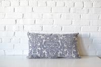 Pillow - Gray & White Damask