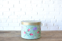 Painted Hatbox - Green