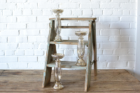 Mercury Glass Pillar Stand - 11.5