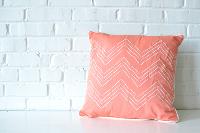 Pillow - Coral Chevron