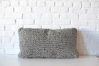 Pillow - Gray Woven Lumbar