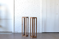 Pair of Modern Stained Columns