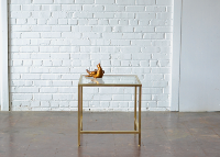 Gold & Glass End Table