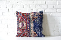 Pillow - Killim-style Blue & Red